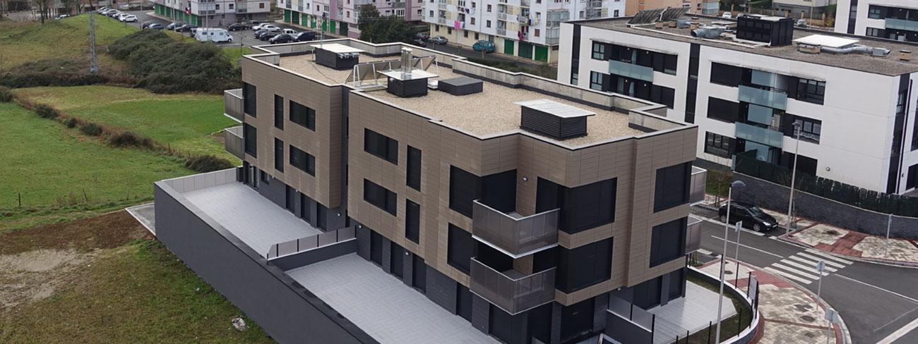 dos últimas viviendas en obra finalizada Agerreazpi en Usurbil