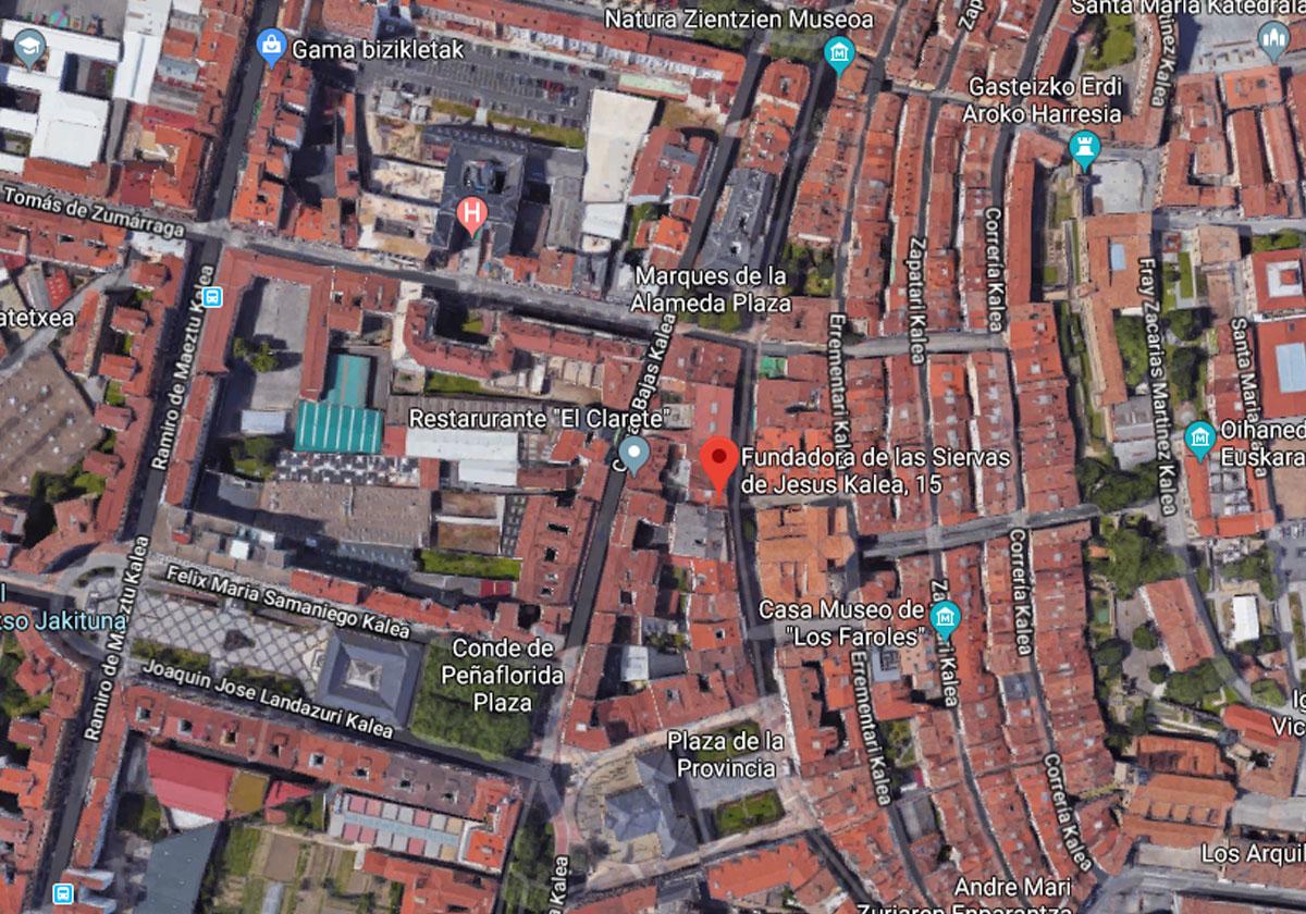 Vista aérea de Siervas 15 Vitoria